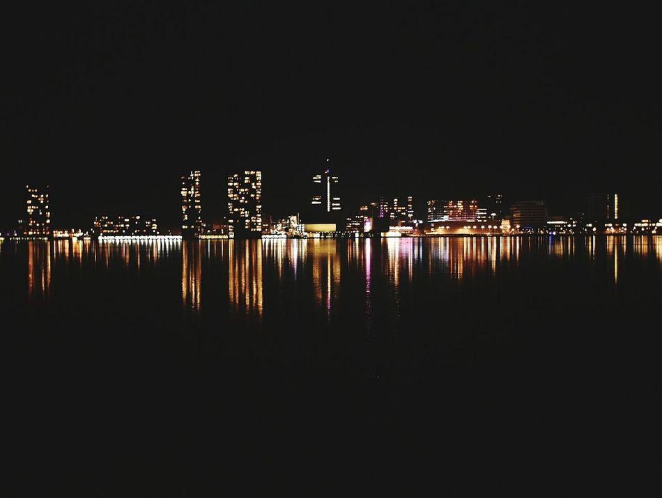 Reflection Illuminated Water Architecture Night Sky Lake No People Outdoors City Cityscape Nature First Eyeem Photo