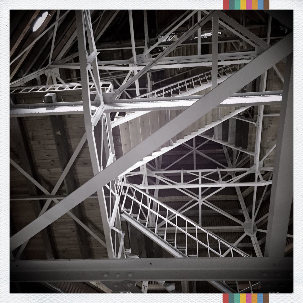 To the top...! Architecture Bell Tower Built Structure Ceiling Church Complexity Connection Low Angle View Metal Mobilephotography No People St. Petri Stairs