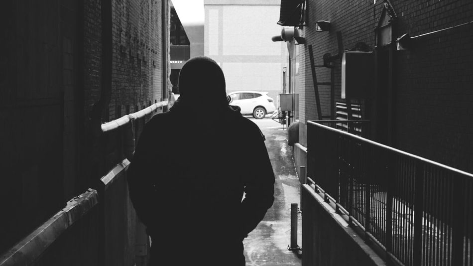 One Person Sonyalpha SONY A7ii Indianapolis  Indy Exploring My Point Of View Follow_me Silhouette Blackandwhite Black & White Makeyourmark Makeyourpath Makeyourstyle Front View