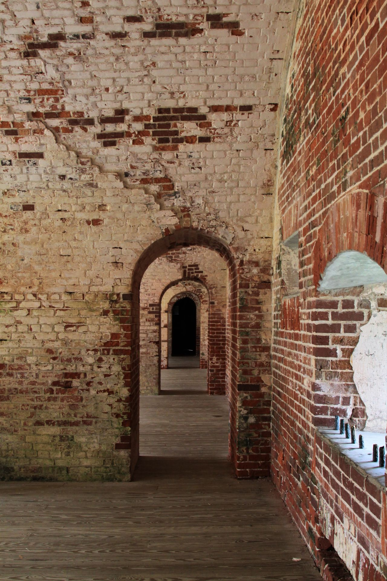 Arch Architectural Detail Architecture Brick Wall Bricks Built Structure Canon Canonphotography Day Doorway EyeEmNewHere Fort Macon  Fortress Indoors  New Talents No People The Way Forward Vintage Window