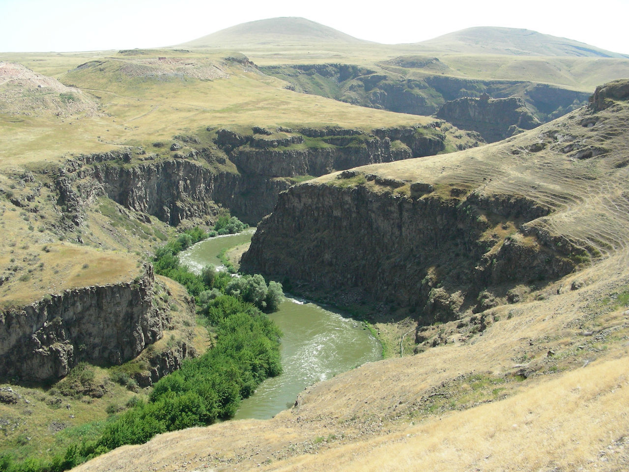 Asi river, Turkey/Armenian border. Beauty In Nature Border Borderline Day Kars Landscape Mountain National Park Nature No People Outdoors River River View Riverbank Ruins Scenics Tourist Attraction  Tourist Destination Tranquility Travel Destinations Travel Photography Turkey Turkeyphotooftheday