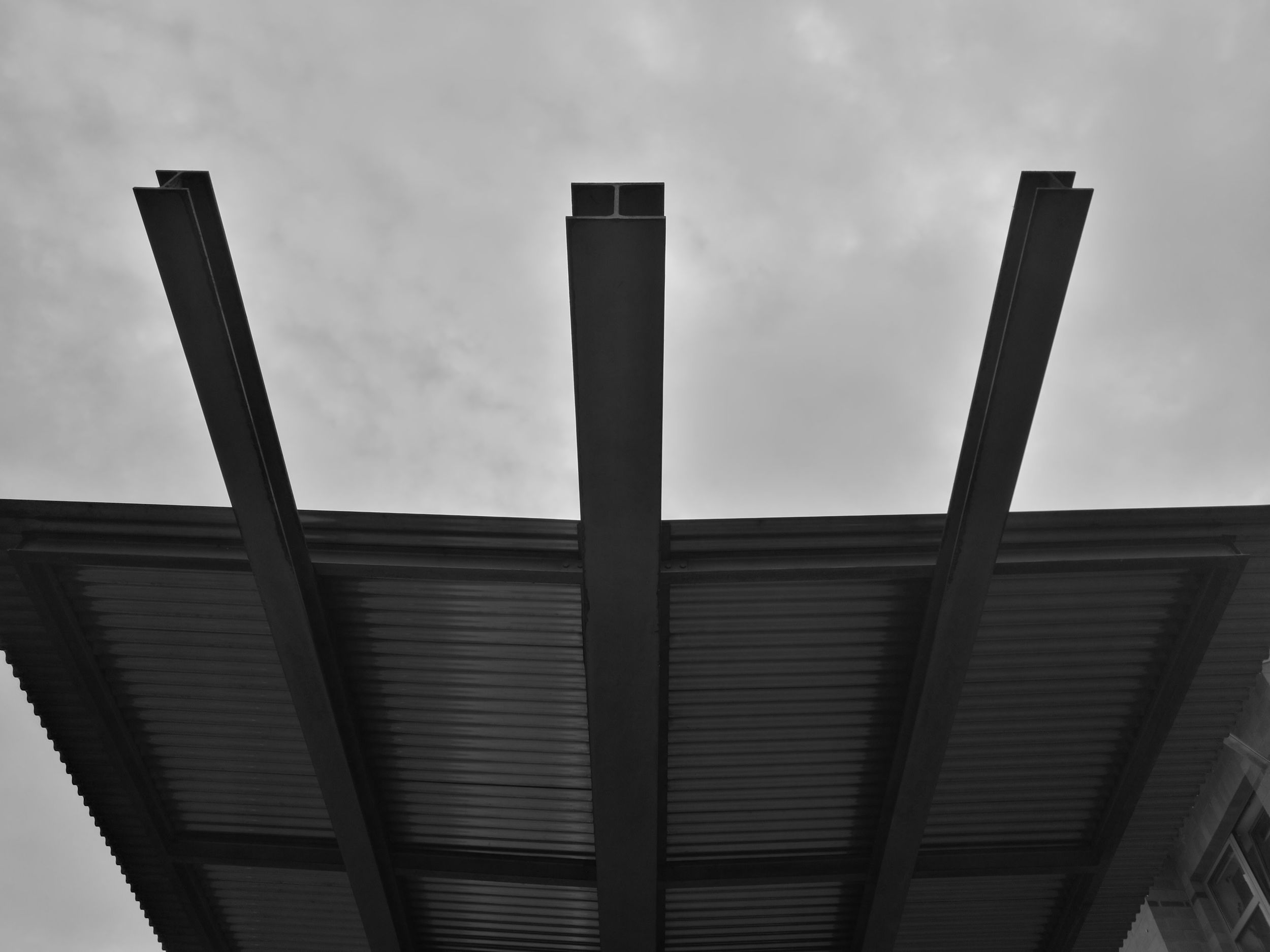 Architecture Built Structure No People Sky Metal Industry Outdoors Low Angle View The Purist (no Edit, No Filter) Blackandwhite Roof