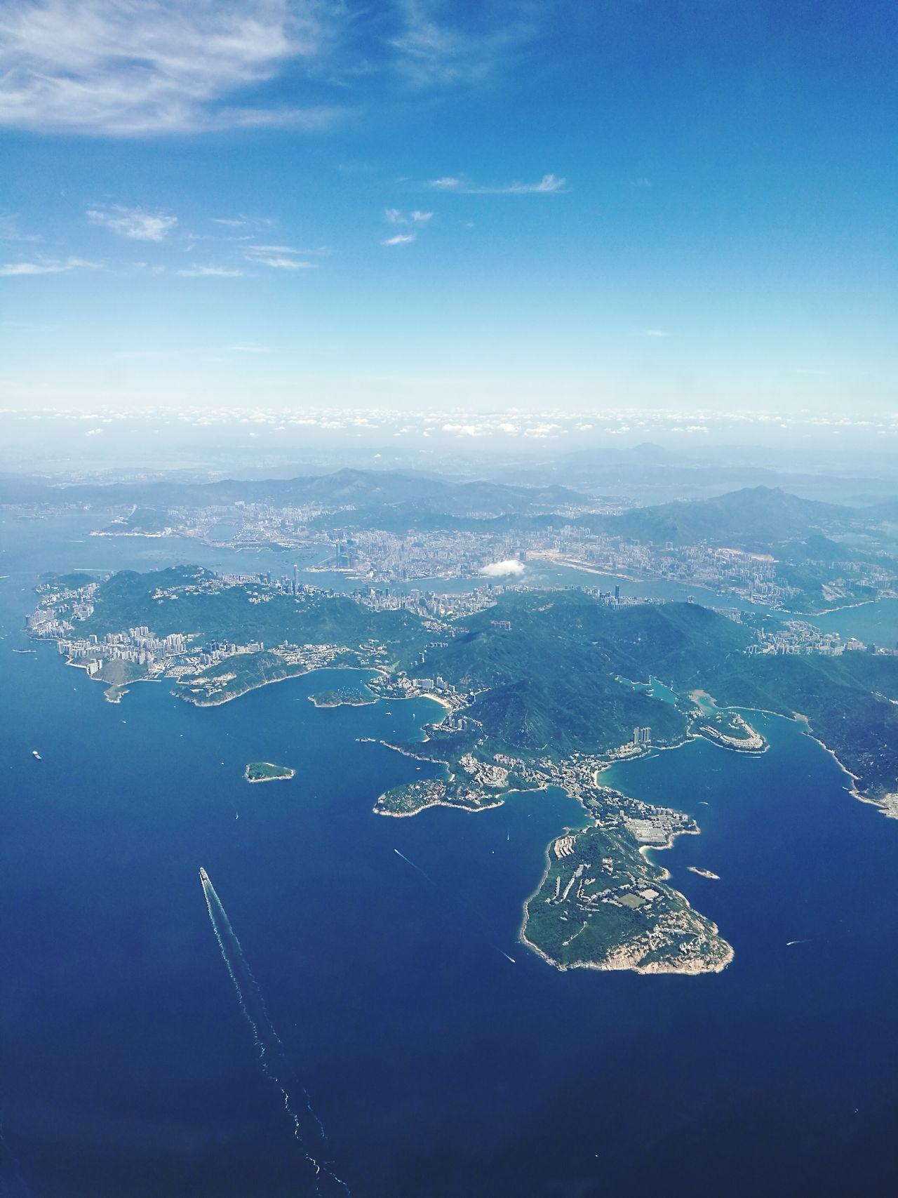 Aerial View Hongkong Island