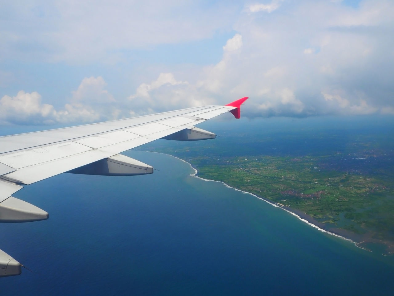 💙✈️ Flying High ✈️💙 Travel Aerial View Waves, Ocean, Nature Sea And Sky Aircraft Wing Airplane Airplane Wing Beauty In Nature Blue Sky Blue Wave Cloud Cloud - Sky Day Exceptional Photographs Flying Landscapes Nature Ocean Outdoors Sea Sky Tadaa Community Tranquility Transportation