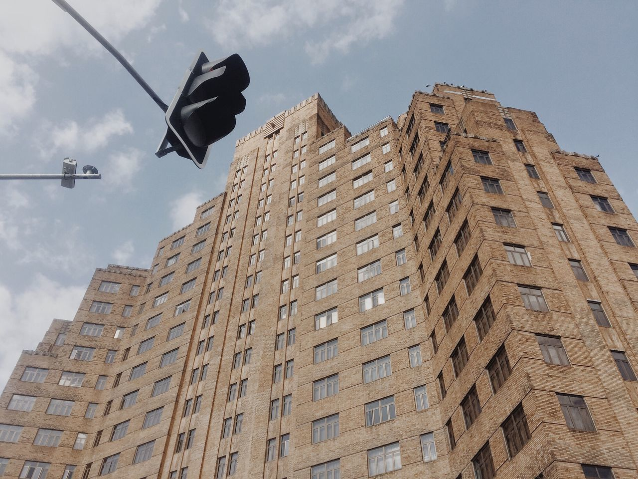 Shanghai Building Exterior Low Angle View Built Structure Architecture Signal Signal Light Crossroads