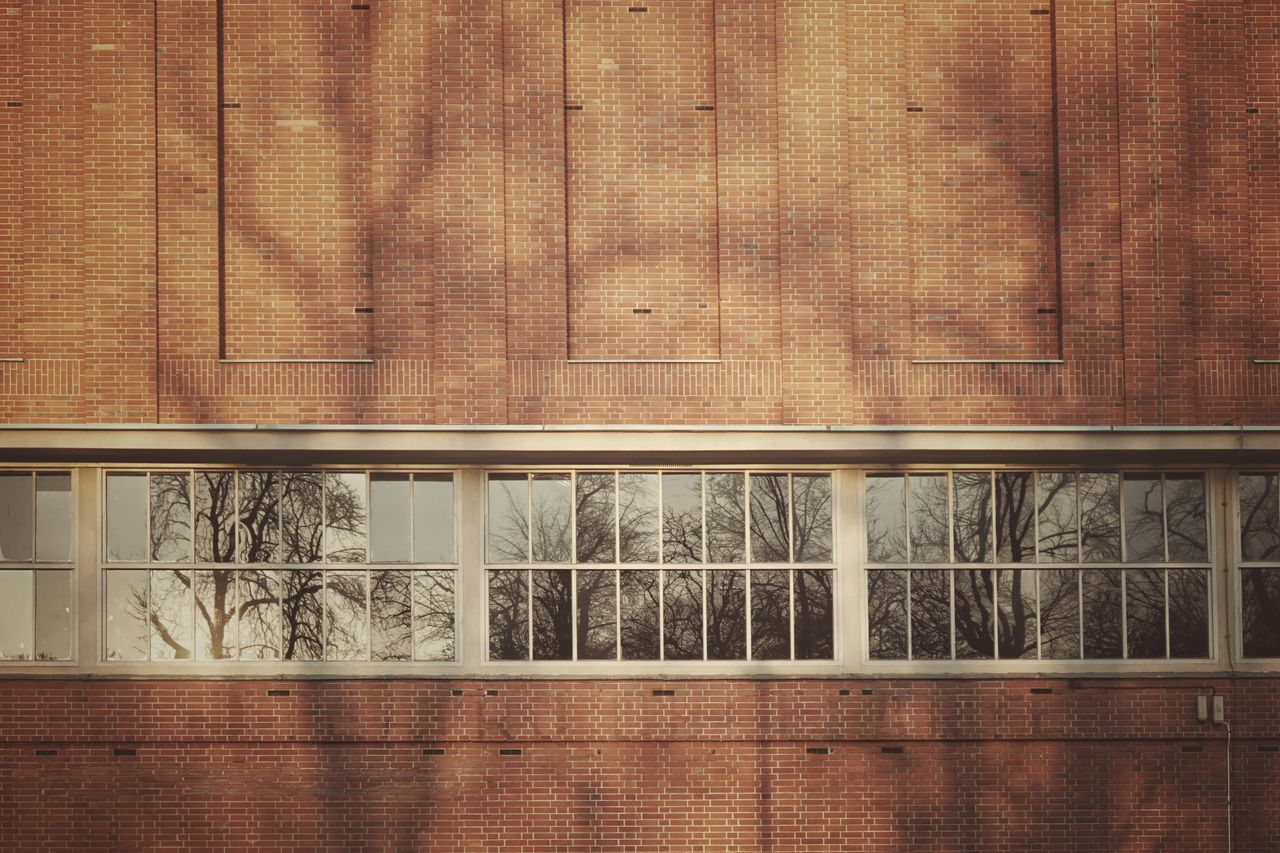 Brick facade | Brick Wall Architecture Triennale Milano Window Light And Shadow From My Point Of View The Architect - 2016 EyeEm Awards Showcase: February Getting Inspired Pattern Pieces Trees EyeEm Italy |