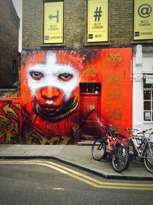 The Voodoo child graffiti in Brick Lane London Travel Bricklane Road Streetart/graffiti Wall Art First Eyeem Photo