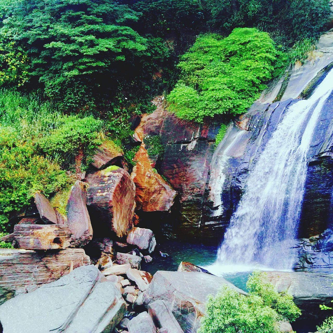 Nature-at-its-best Waterfall Enjoying Nature