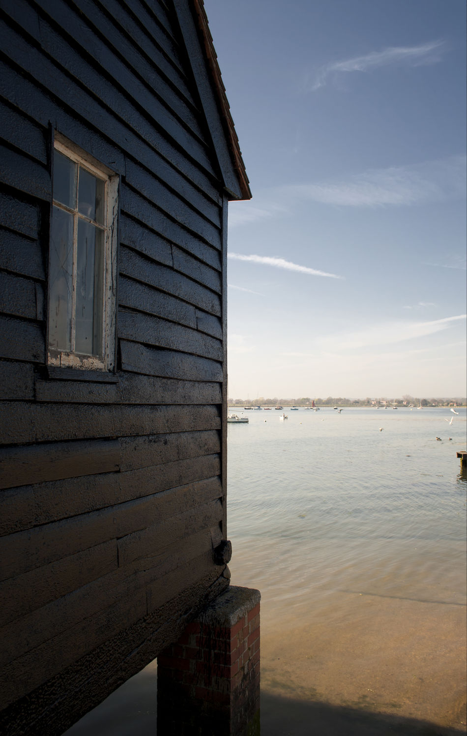 Chichester Chichester Harbour England Marina Nautic Club Old Building  Port Sea Sea And Sky Uk Wooden House