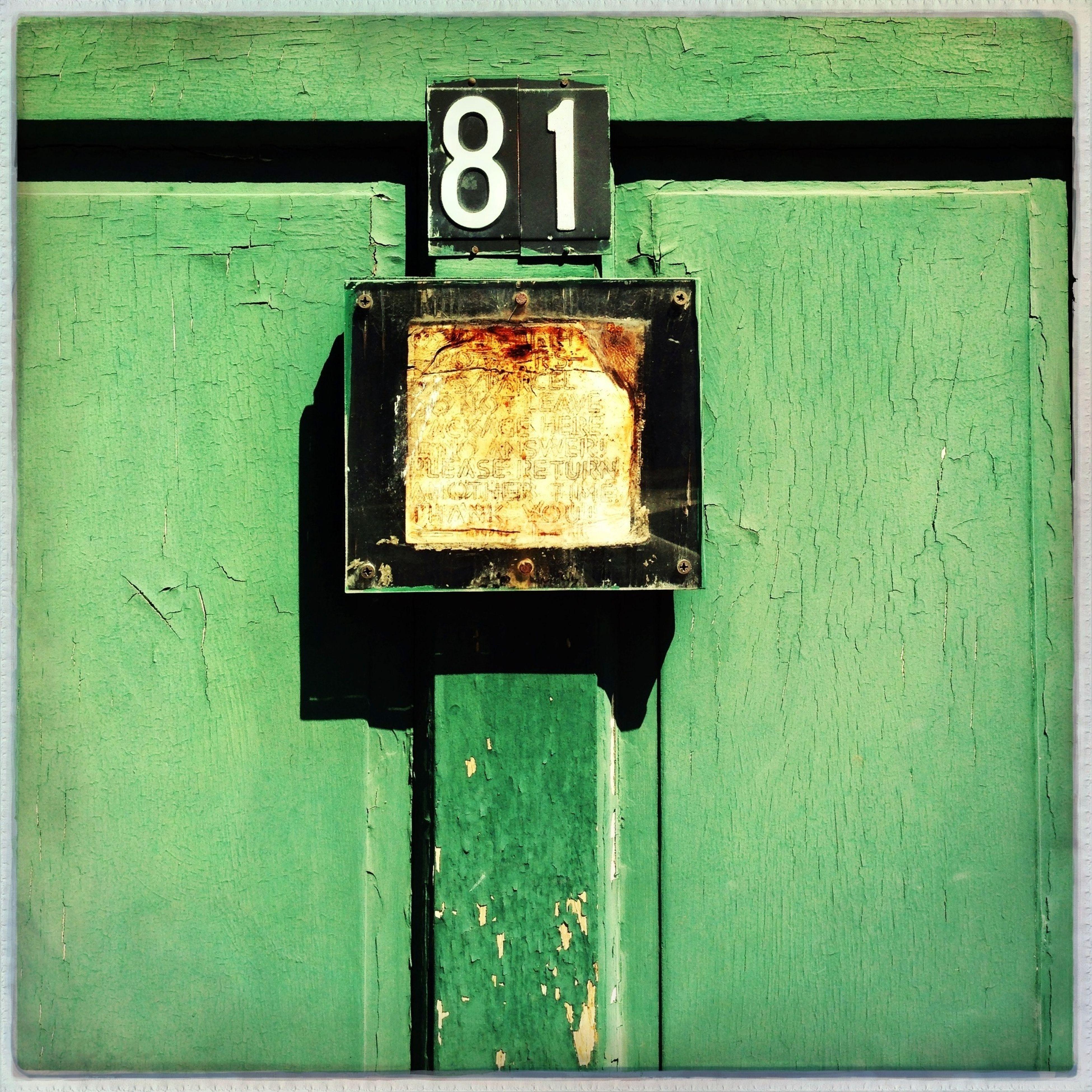 Weathered Green door Door Green Things That Are Green