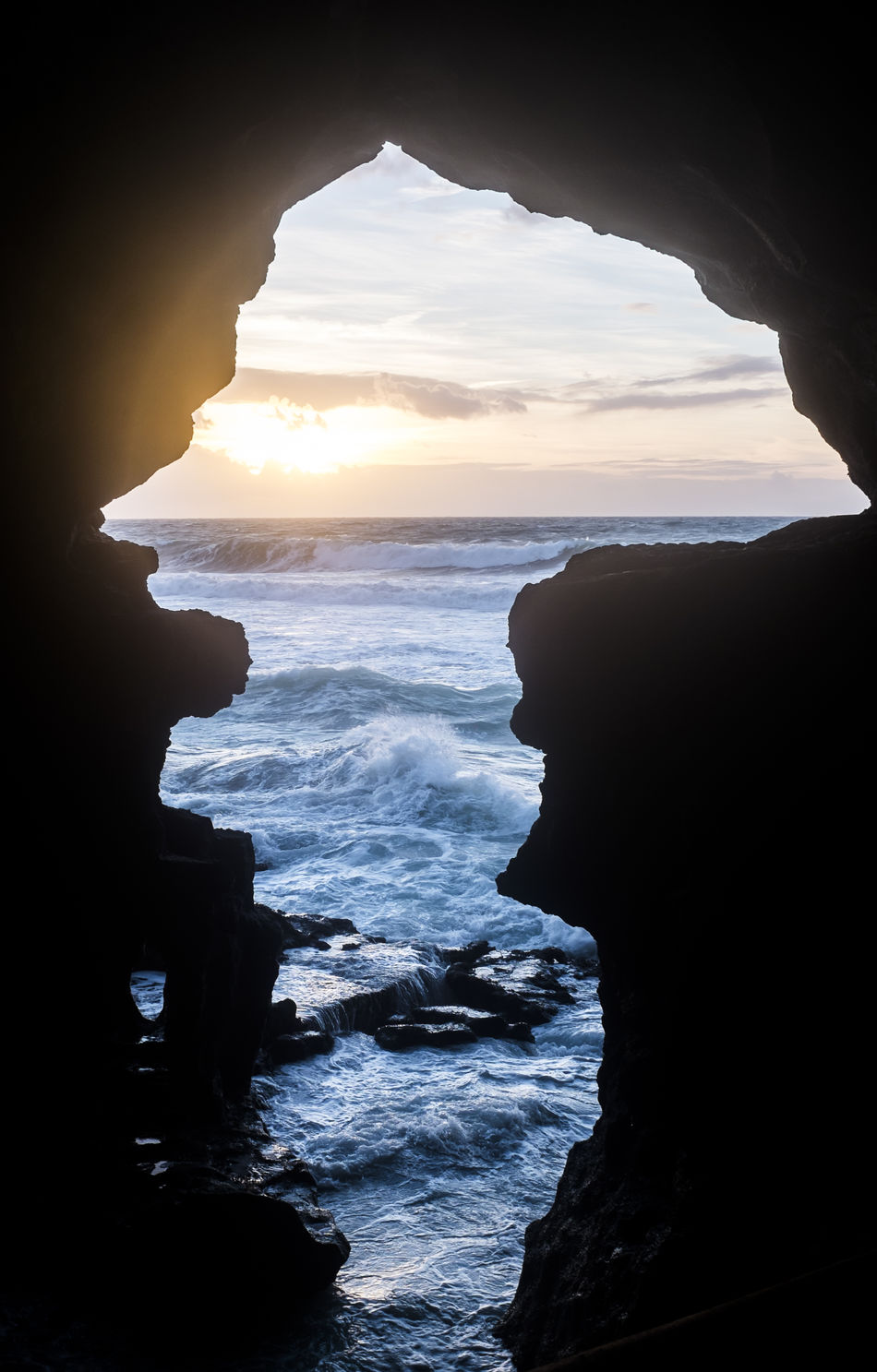Sunset over the Atlantic coast of Tangier. View from inside of the Hercules Cave Cave Cloud - Sky Hercules Hercules Cave Light And Shadow Sea Sea And Sky Silhouette Sunset Tangier Waves
