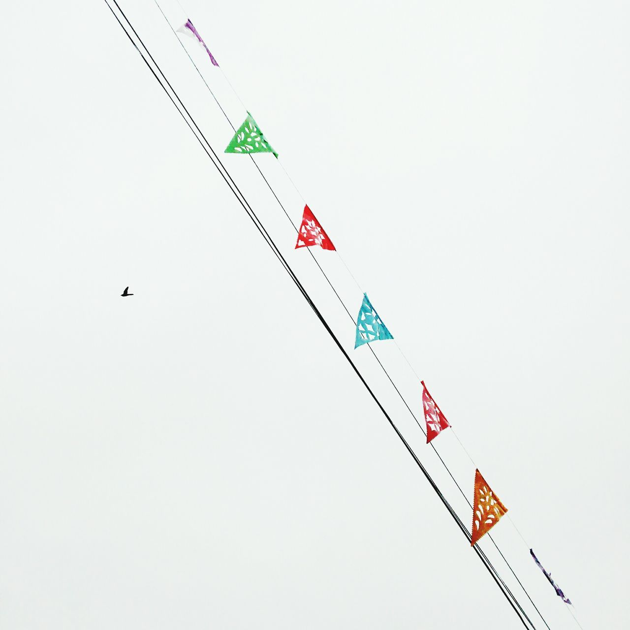 copy space, white background, clear sky, studio shot, flag, no people, day, flying, outdoors, sky