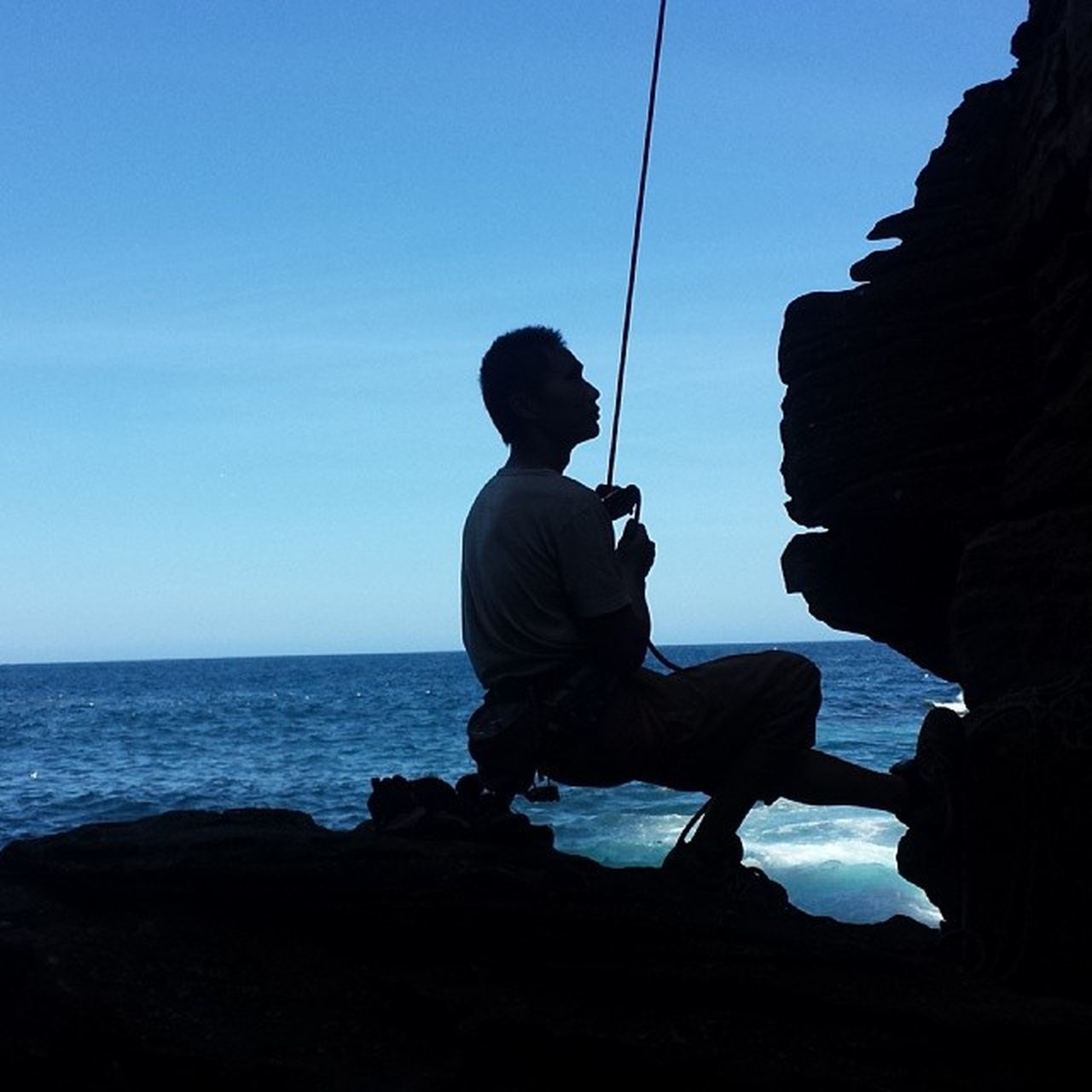 Belay master. Sydney sea cliffs @ Rosa Gully. Alldayeveryday  Climbing