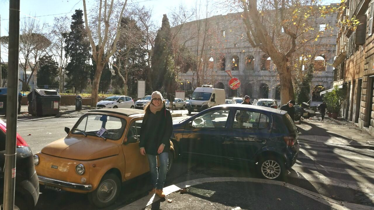 Women Around The World Italian Girl Fiat500 Colosseo Car Colosseum Roma Romantic Memory Cielo D'inverno Italian Culture Esplorando Me Myself And I