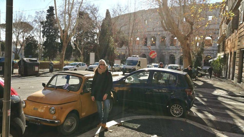 Women Around The World Italian Girl Fiat500 Colosseo Car Colosseum Roma Romantic Memory Cielo D'inverno Italian Culture Esplorando Me Myself And I