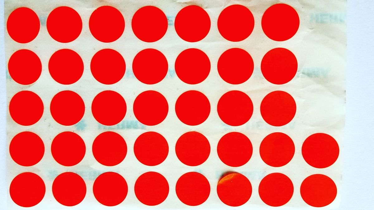 Orange Orange Color Contemporary Art Pattern Composition Sold Close-up In A Row Artworks Contemporary Art ArtWork Exhibition Abstract Paper Expo White Background Commission Work No People Freshness Dots Pattern Dots