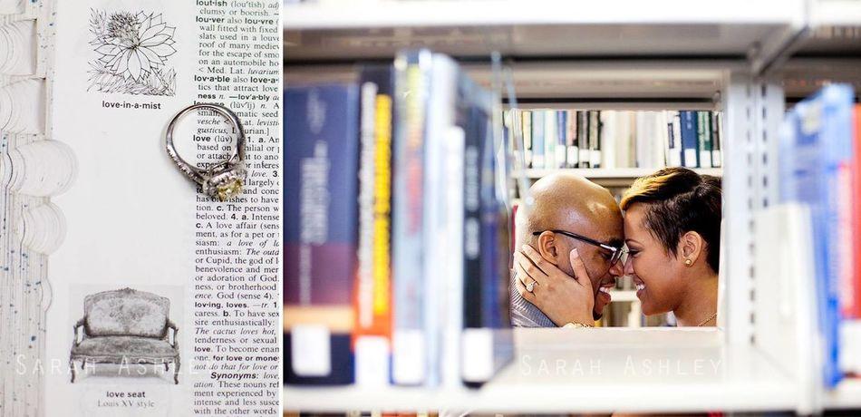 www.sarahashleyphotos.com Engaged Engagement Library Love