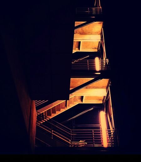 Bus station staircase. Steps And Staircases Architecture Railing Illuminated No People Staircase Steps Built Structure Night Outdoors City Washington State Seattle, Washington Puget Sound, Washington Building Exterior Veiwpoint Of A Homeless Seattle Girl Architecture