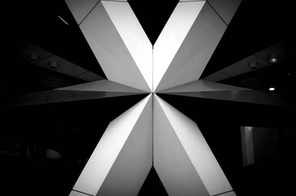Pattern Office Building Blackandwhite Photography Lights And Shadows London Shadows & Lights Monochromatic Light And Shadow Bnw Black & White Contrast Symmetrical Symmetry Architecture Architectural Feature Architectual Detail Architectural Star Cross Welcome To Black