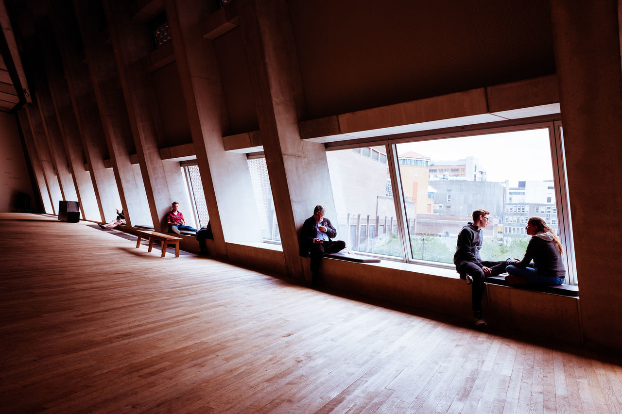 Architecture Architecture Art Gallery City Concrete Hardwood Floor London Switch House Tate Modern Windows