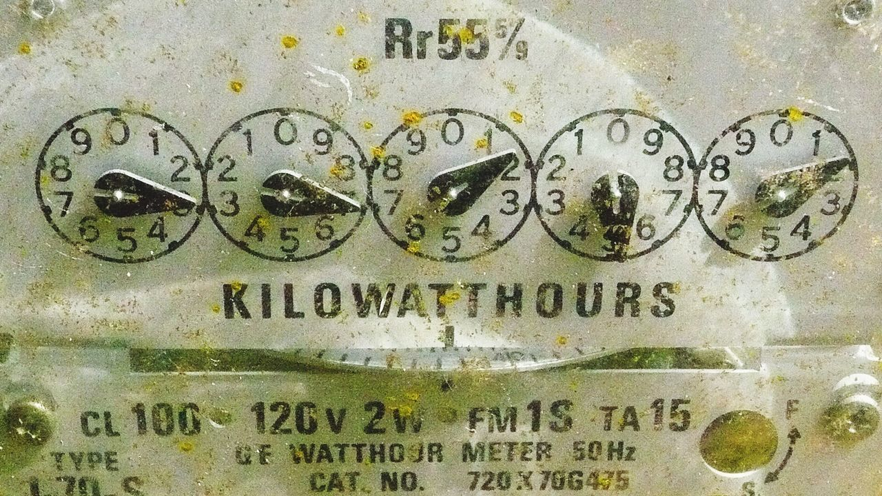 Metal Text Close-up No People Communication Indoors  Day Minute Hand Meter - Instrument Of Measurement electricity meter Power