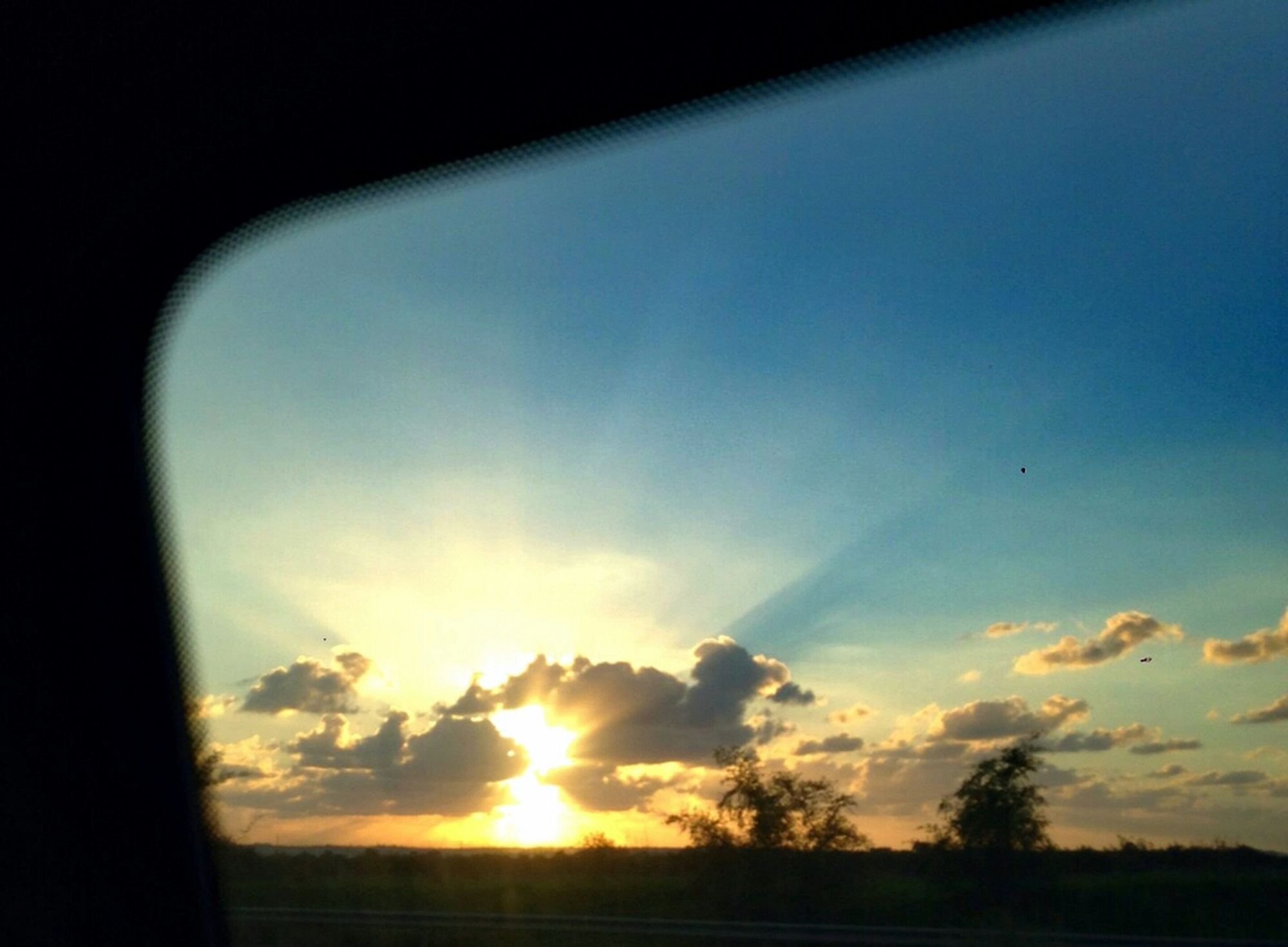The View From My Window ... good evening 👋🌇. By The End Of The Day Sunset Darkness And Light Last Rays Of Sunlight Driving On The Road Depth Of Focus The Beauty In Simplicity
