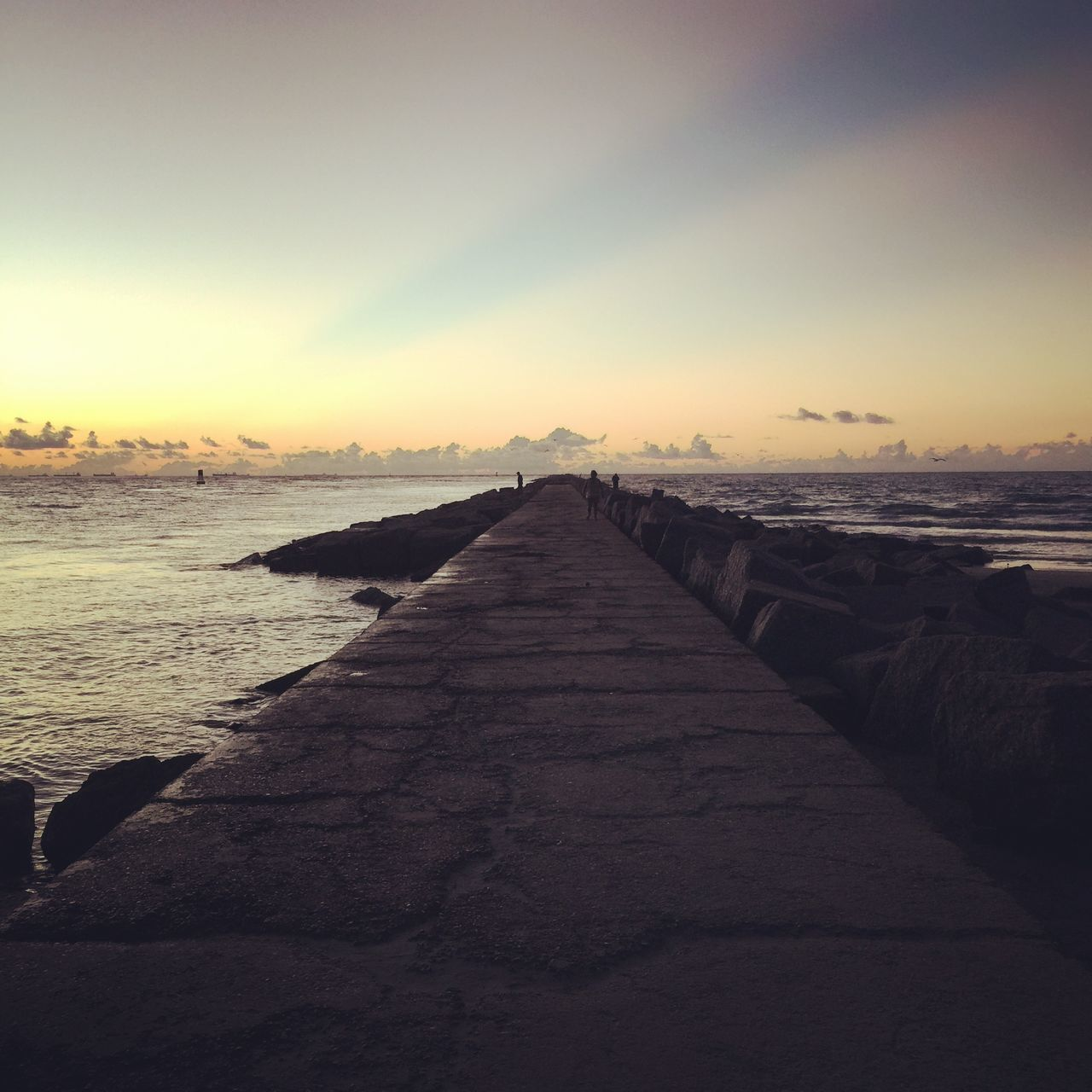 Pure joy Beach Horizon Over Water Jetty View No People Sea Sky Sunrise The Way Forward Tranquil Scene Tranquility Water