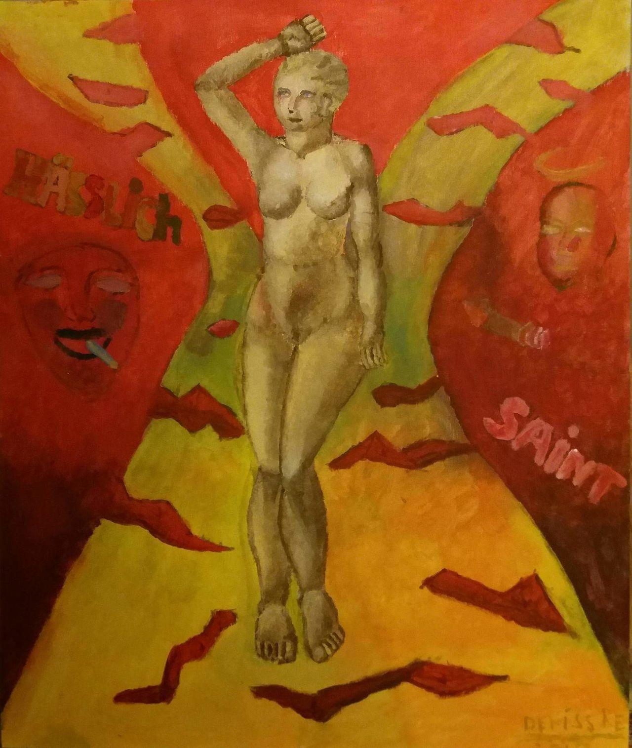 """My new acrylic painting """"The woman with the views"""" by Debiss Re/Mein neue acrylfarben gamälde """"Die Frau mit den Ansichten"""" von Deniss Re Kunst Zeitgenössische Kunst Art ArtWork Conceptual Art Malerei Acrylicpainting  Europen Artist Acrylics Konzeptkunst DenissRe Konzept Gemälde Woman Frau Frauporträt"""