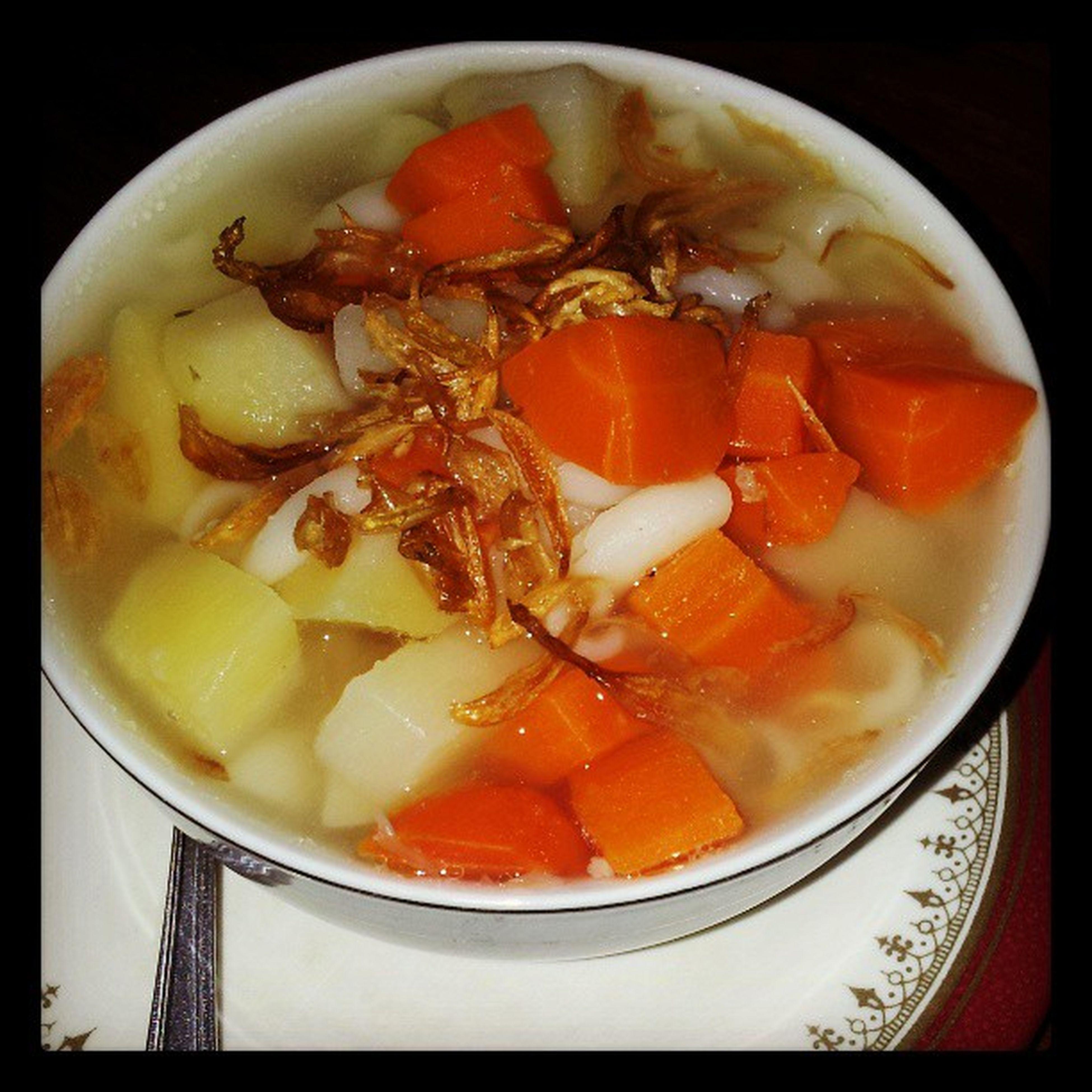 Latedinner Potato Carrot Macaroni soup grandmastyle