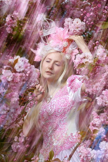 blonde cosplay girl in fairytale dress matching cherry blossoms pink color - double exposure technique Beautiful Nature Blonde Blonde Girl Cherry Blossoms Cosplay Dokomi Double Exposure Model EyeEm Nature Lover Girl Japantag Düsseldorf Lifestyles Noedit Nofilter Nordpark Pink Portrait The Innovator Taking Photos 桜 Let Your Hair Down Fairytale  Anime Fashion Dressed Up