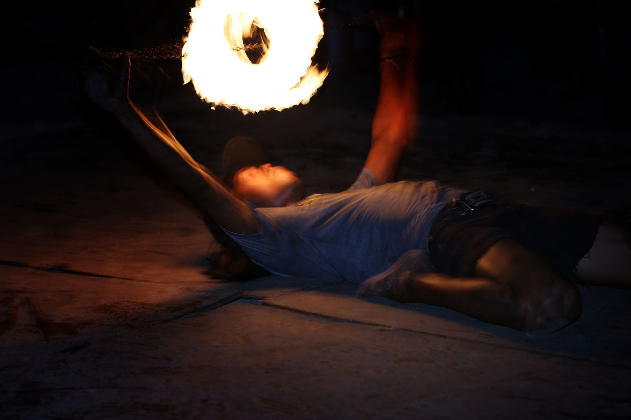 Chain saw Beach Performers Crowd Pleaser Extreme Fire Dancer Langkawi Island Malaysia Night Entertainment Night Life Night Life 🌛 Pantai Cenang Ring Of Fire Solo Swirling Fire