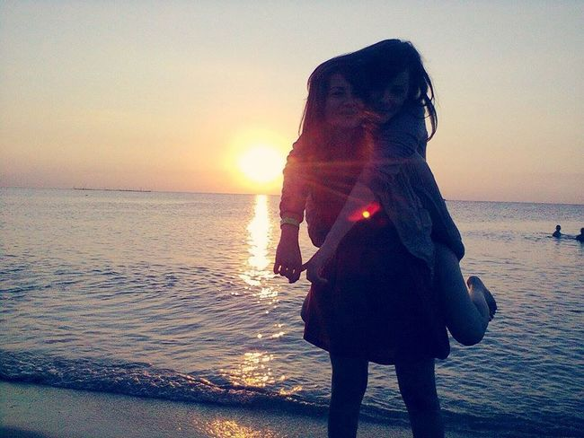 Blessed to have her Beach Sunrise Morning Happiness Memories