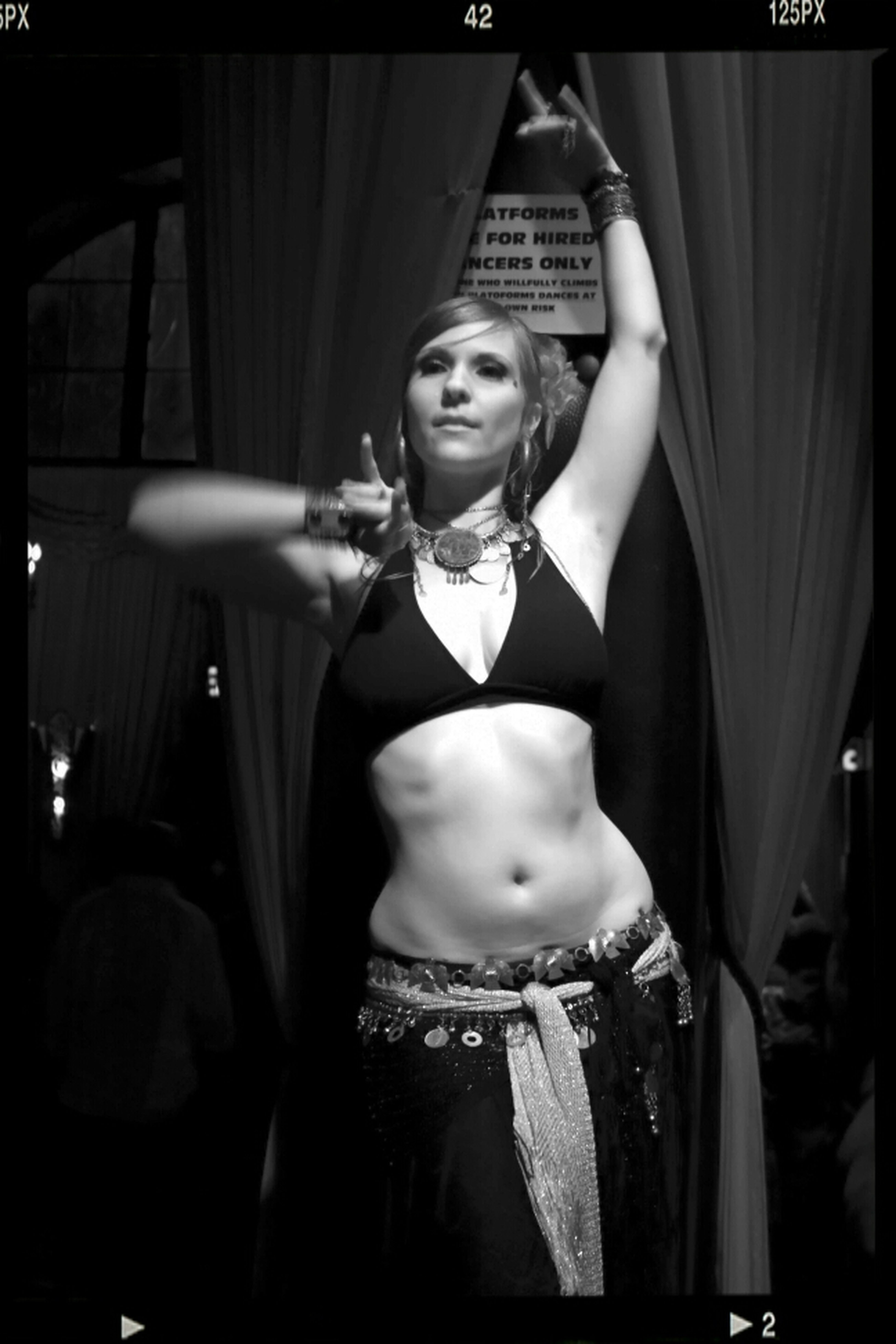 Performers Only Black And White Great Performance Dance Belly Dancing GoGo Dancing