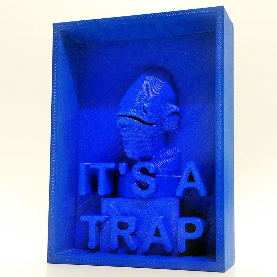 3Dprint Admiral Ackbar Decoration Geek Its A Trap Meme Rebels Star Wars Star Wars Collectables