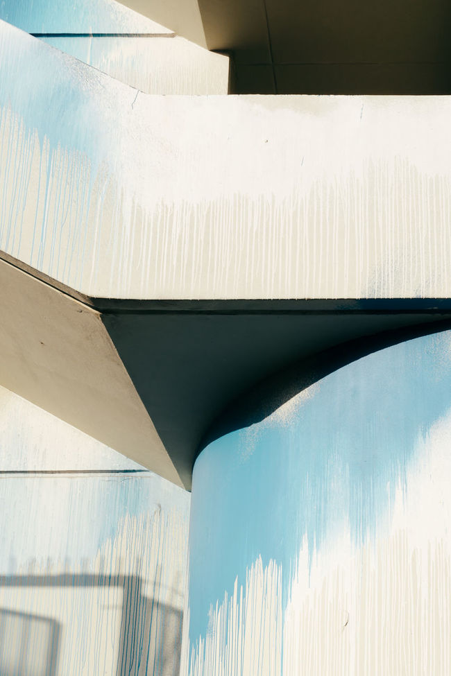 Abstract Architecture Blue Built Structure Day Light And Shadow Minimalism No People Shadow Simplicity