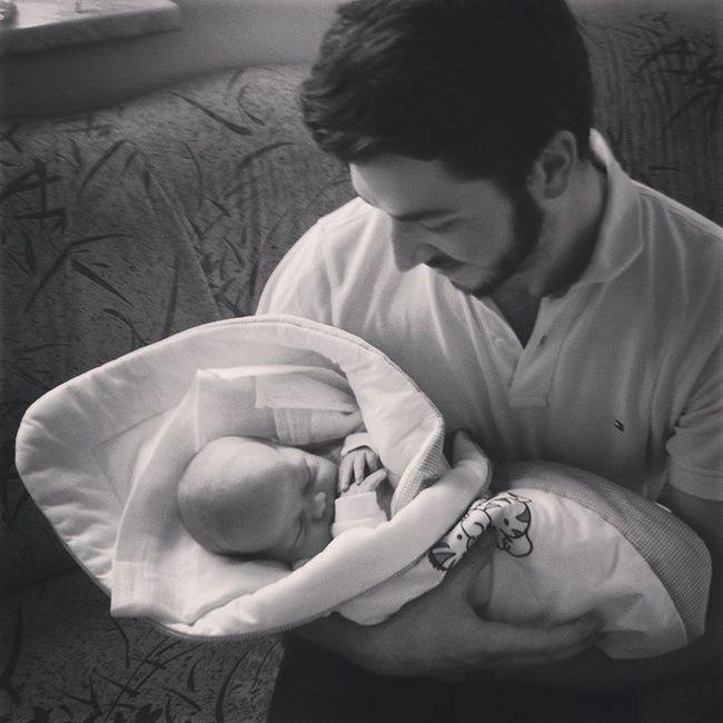 Me with my little Nephew  Baby 1weekold uncle komornilhotka