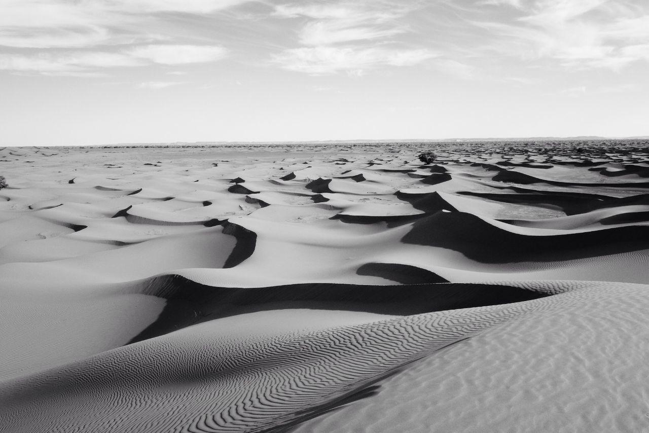 Blackandwhite Desert Waves Calm