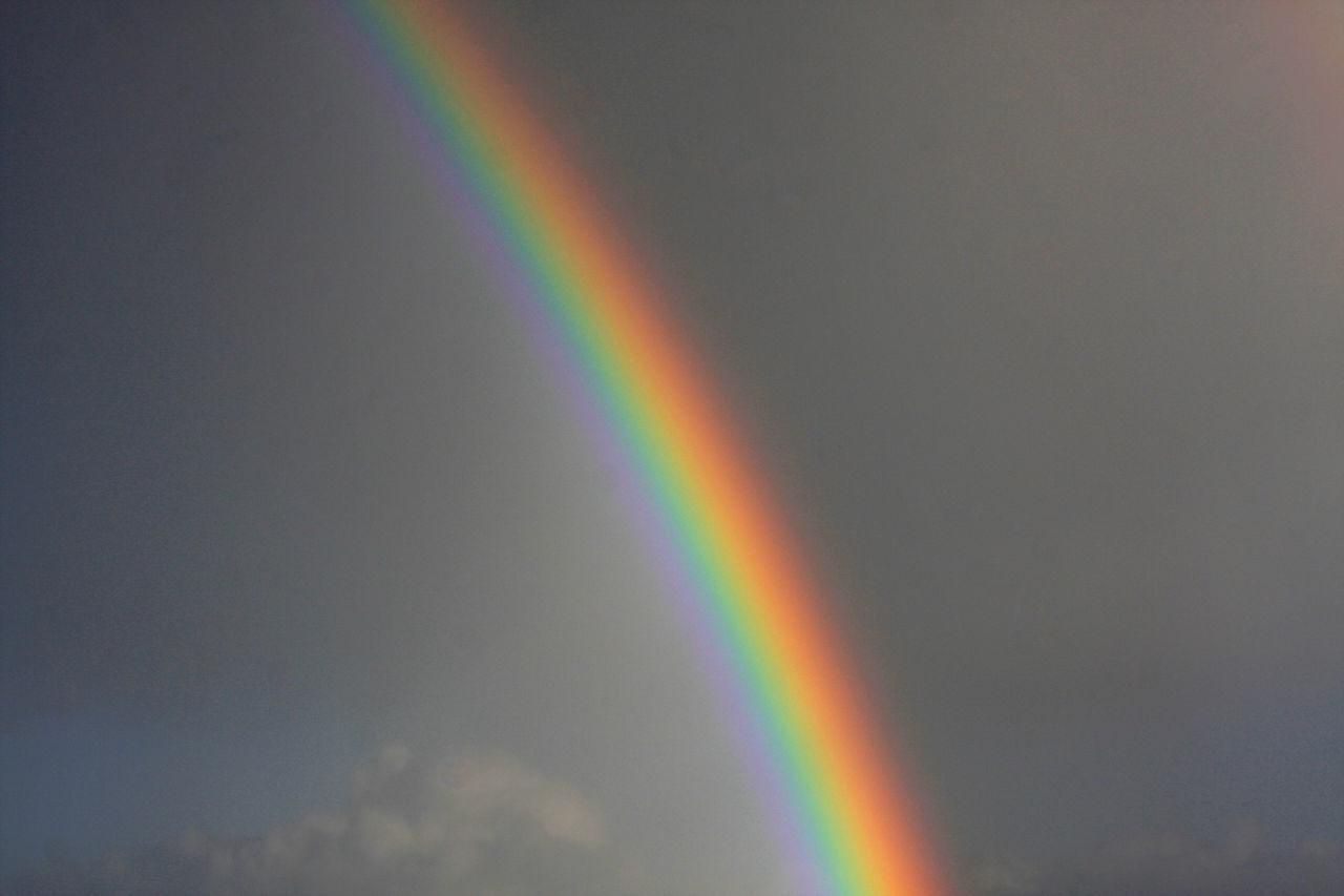 Beautiful stock photos of rainbow, Arch, Cloud - Sky, Copy Space, Dusk