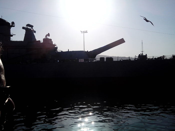 the front of USS IOWA