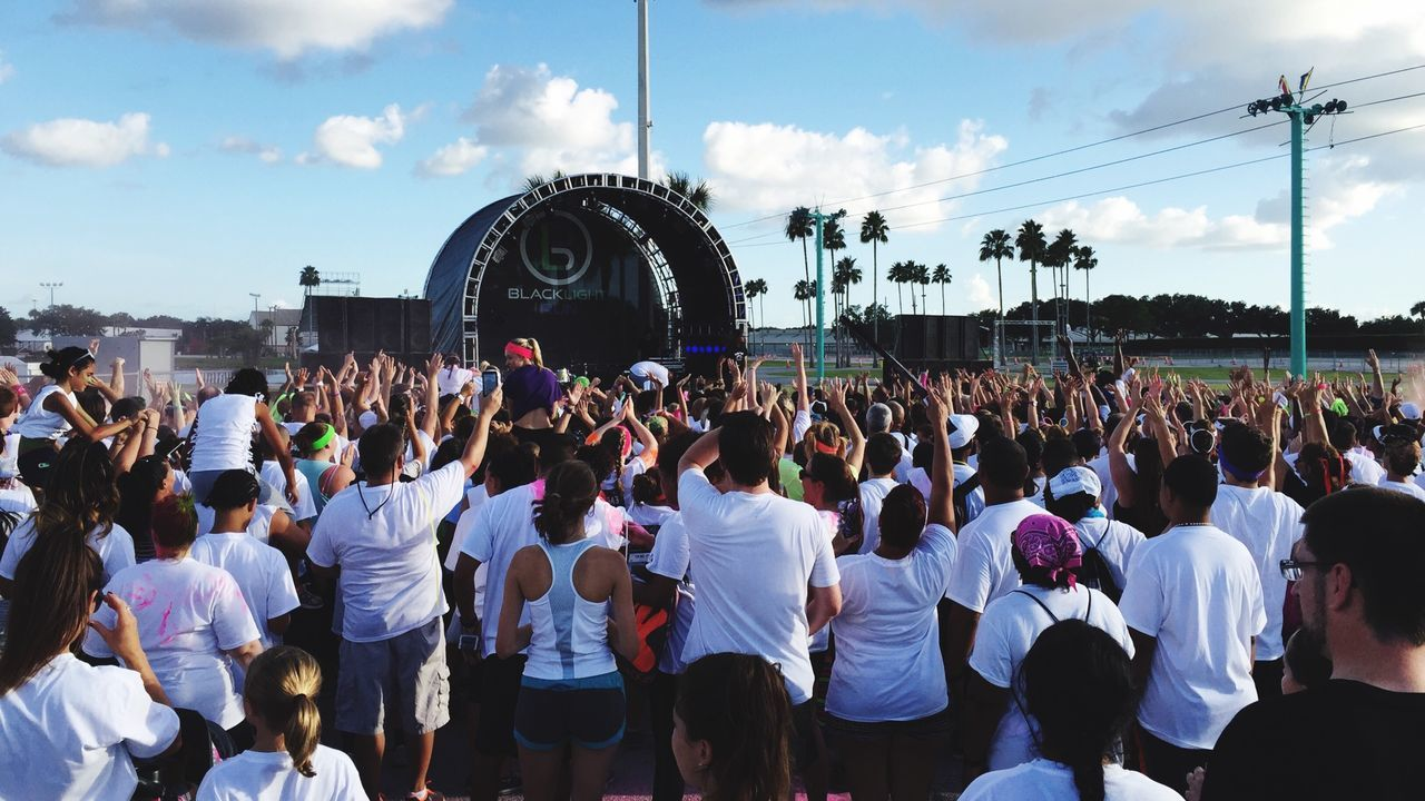 Another Photo of the Music Stage at Blacklight Run during the pre-run Party and enjoying the Music