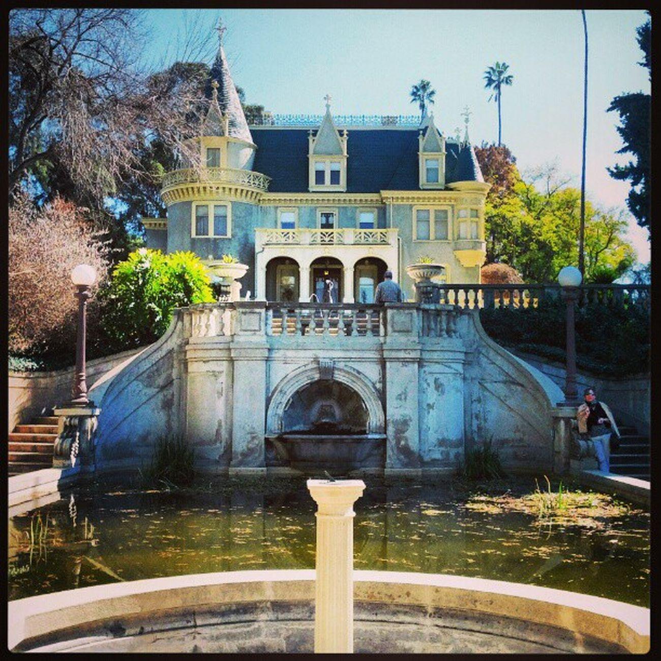 Kimberlycresthouse Redlands SoCal Himom garden pond stairs vintage antique