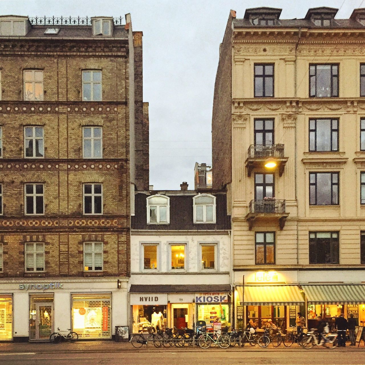 Building Exterior Architecture Built Structure City Window Outdoors Store Sky Illuminated Day No People Holdout Tiny Building  Sandwiched Favorite Building Denmark Copenhagen, Denmark Copenhagen