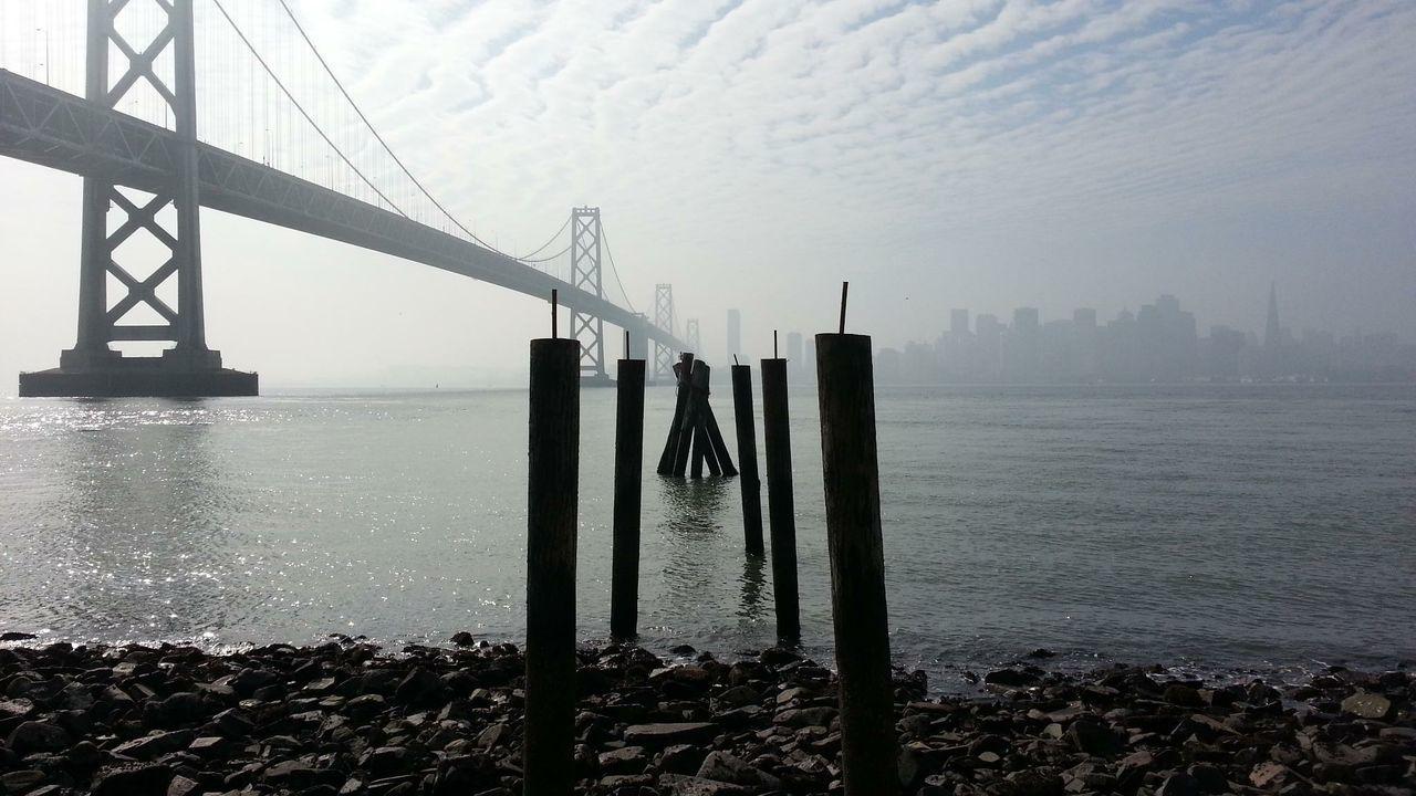Yerba Buena Island San Francisco Bay Bridge San Francisco Fog EyeEm Best Shots Pier Ruins The Great Outdoors - 2015 EyeEm Awards My Smartphone Life Cityscapes Seeing The Sights My Best Photo 2015