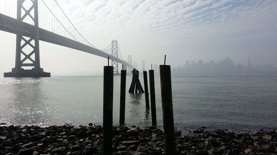 Yerba Buena Island San Francisco Bay Bridge San Francisco Fog EyeEm Best Shots Pier Ruins The Great Outdoors - 2015 EyeEm Awards My Smartphone Life Cityscapes Seeing The Sights My Best Photo 2015 Perspectives On Nature