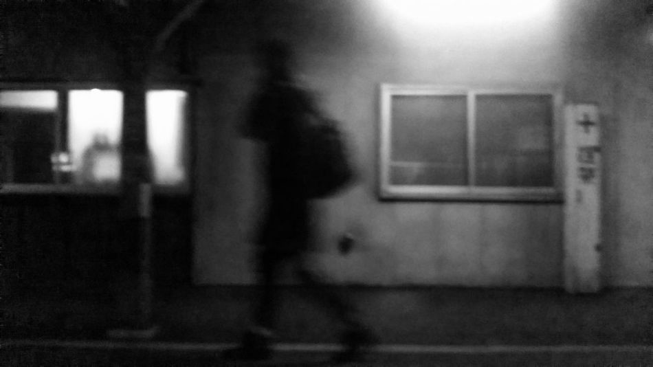 Silhouette Silence Silent Moment Blurred Motion Blurred Man Alone Black And White Black And White Photography Depression Running Late Running Away Rushing Sadness Gloomy Street Photography Traveler Sapporo-shi