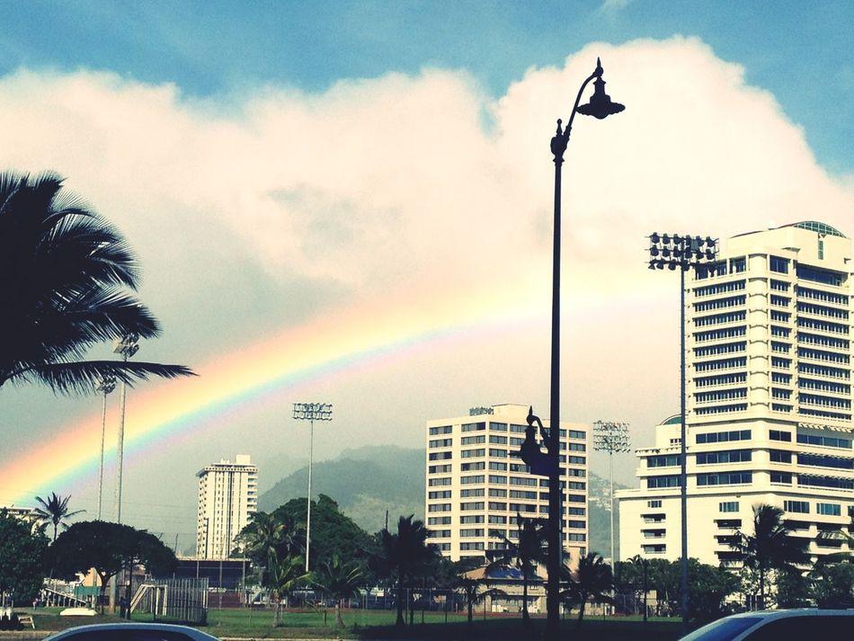 The rainbow in Hawaii. Hawaii Honolulu, Hawaii Rainbow