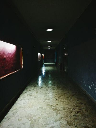 Illuminated The Way Forward Lighting Equipment Ceiling Indoors  Empty Tiled Floor No People Cinema Indoors  Technology