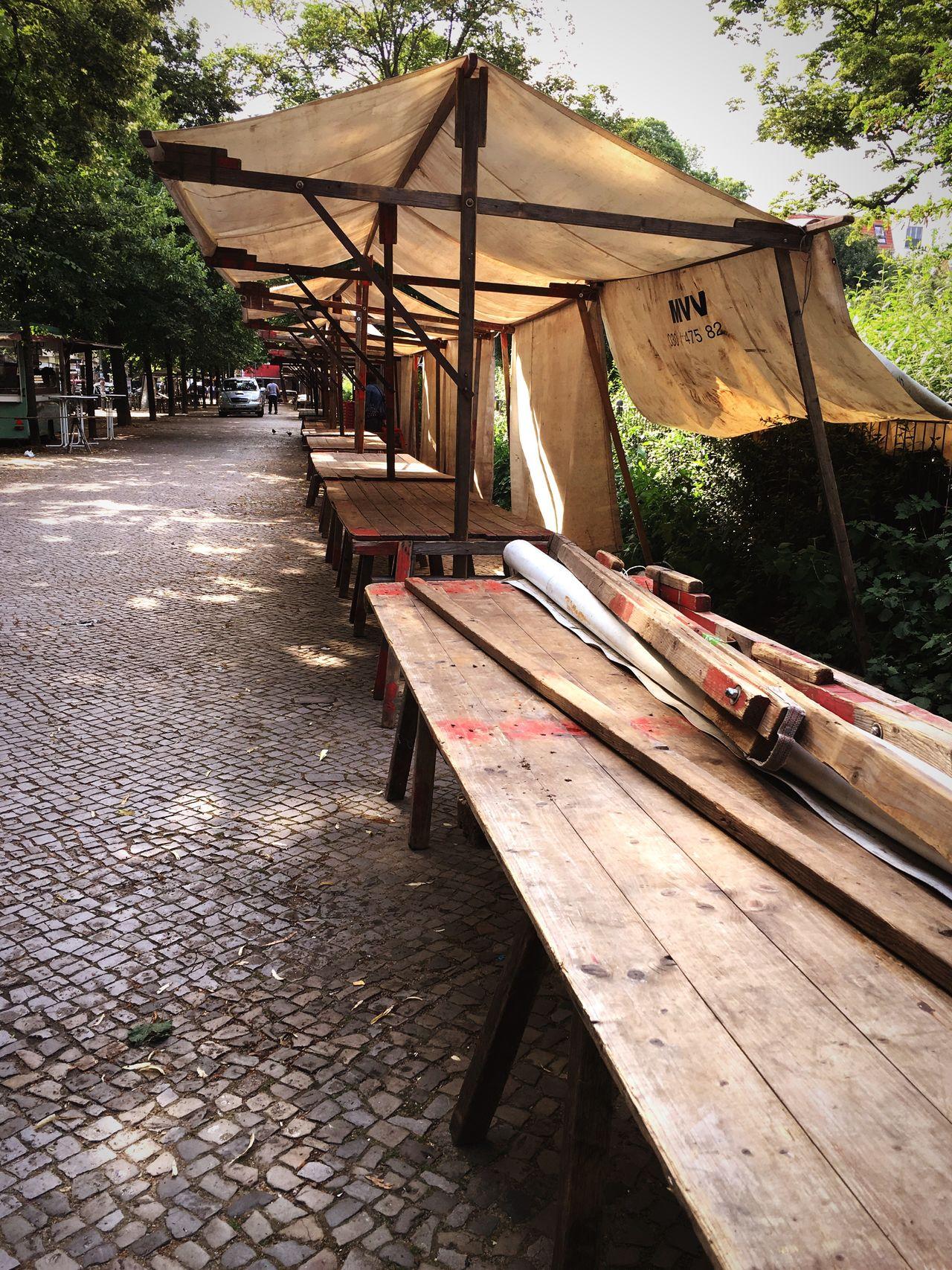 Abbau Boxhagenerplatz Wochenmarkt Empty No People