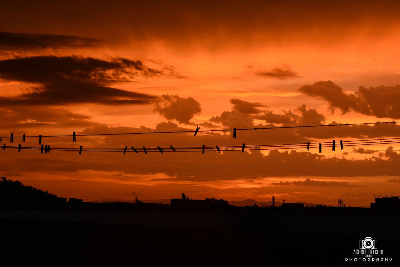 Dramatic Sky Sunset Beauty In Nature Nikonphotography 2015  Sky Cloud - Sky Orange Color Outdoors Idyllic Silhouette Nature No People Tree Scenics Night Illuminated