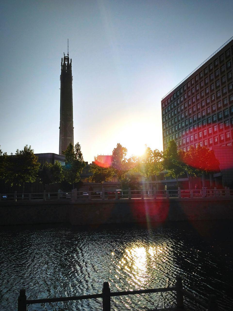 City Buildings During Sunrise